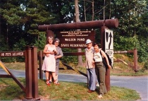 At Walden Pond with my parents and sister