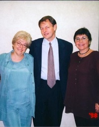 With Jim Cummins and Alma Flor